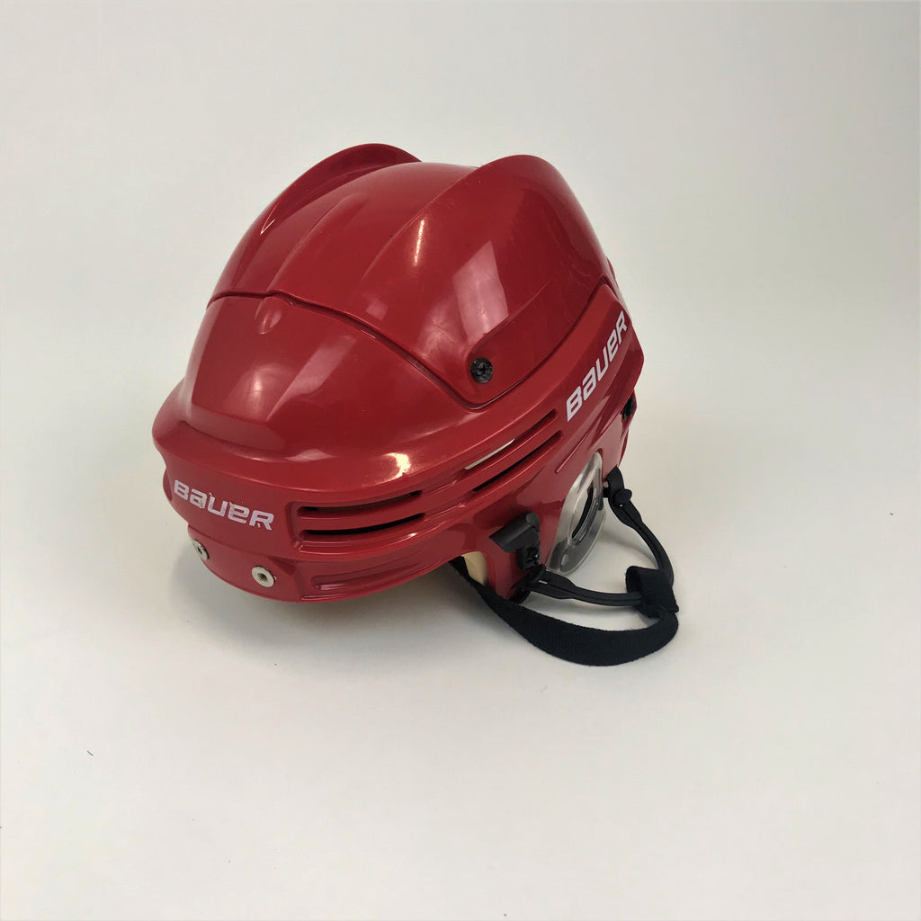 Lightly Used Bauer 4500 Helmet - Red