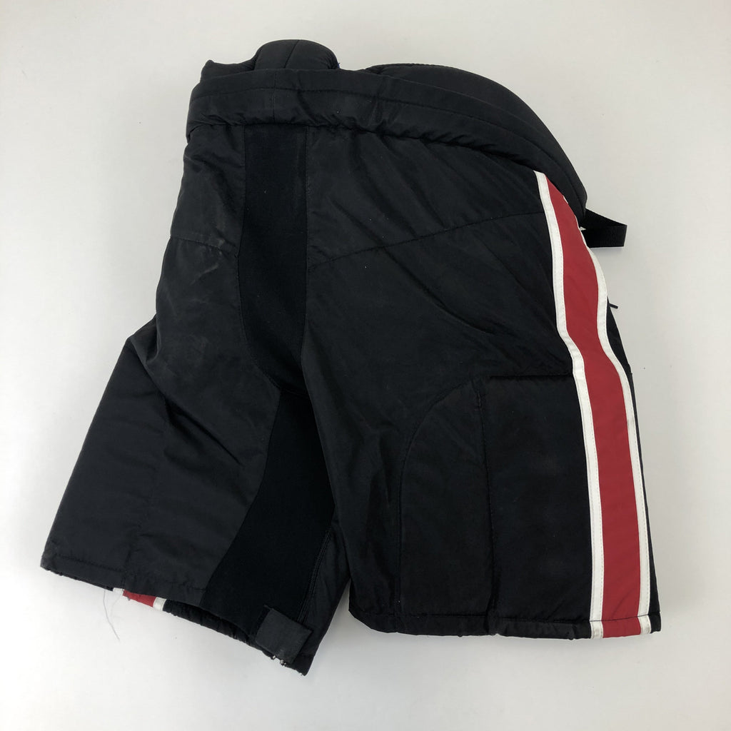 New Black with Red/White Stripe Pants