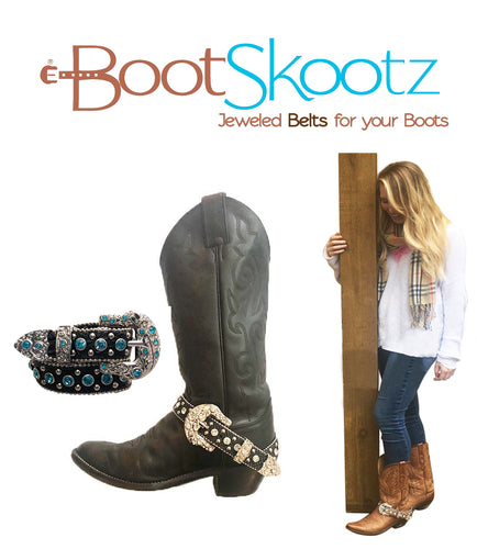 Boot Skootz Jeweled Belts for your Boots