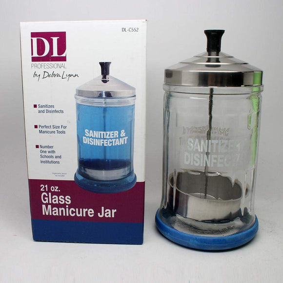 DL PRO Barber Salon Manicurist Tool Sanitizing Disinfecting Glass Jar SJ-DLC552