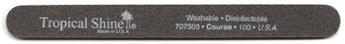 Tropical Shine Course Black Nail File 100/100 Grit