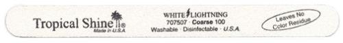 Tropical Shine Course White Lightening Nail File 100/100 Grit