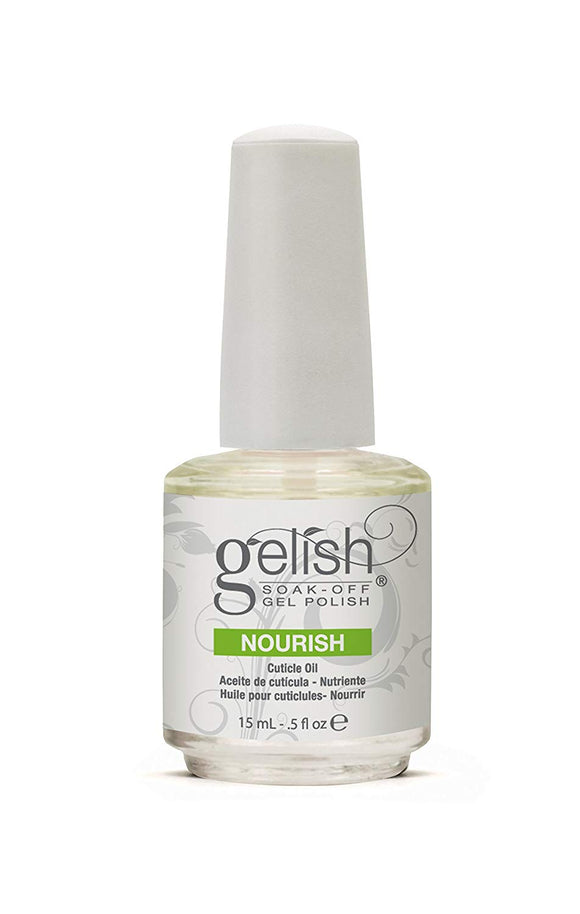 Gelish 15mL Gel Nail Soak Cuticle Oil Soak Off Polish Skin Vitamin Solution