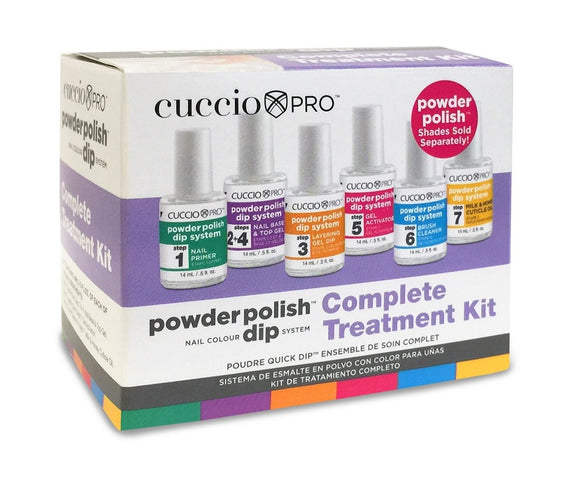 Cuccio Powder Polish Nail Colour Dip System Complete Treatment Kit