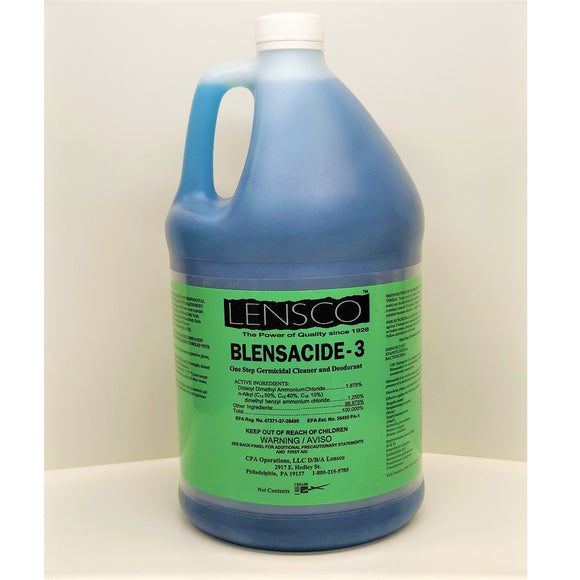 Lensco Blensacide-3, One Step Germicidal Cleaner, 1 Gallon