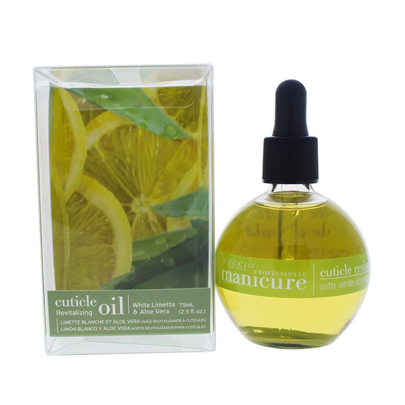 Cuccio Revitalize Cuticle Oil, 2.5 Ounce (White Limetta & Aloe Vera)
