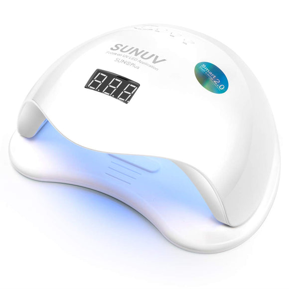 SUNUV SUN5Plus, LED Nail Polish Dryer Lamp Professional Gel Machine for Manicure and Pedicure with Sensor and 4 Timers 48W