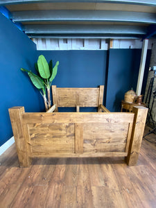 Rustic Pine Bed