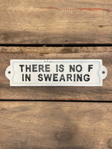 Swearing Sign - White