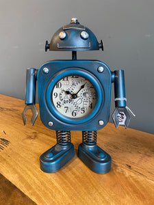 Blue Robot Clock 🤖