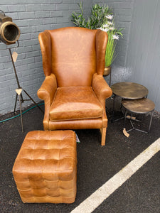 Cerato Leather Wing Chair