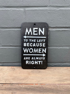 Men to the Left Plaque
