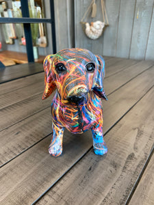 Multi Coloured Sausage Dog