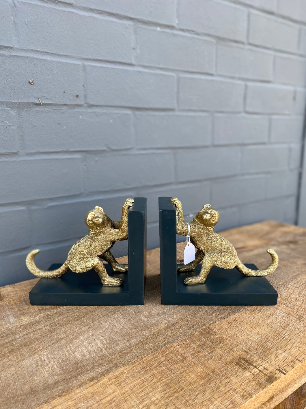 Monkey Bookends 🐒
