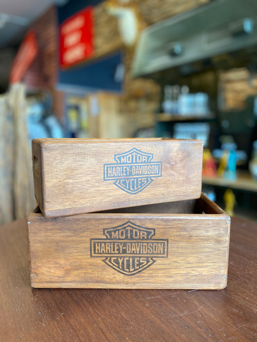 Set of 2 Harley Davidson Boxes