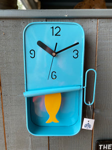 Blue Sardine Tin Clock🐟