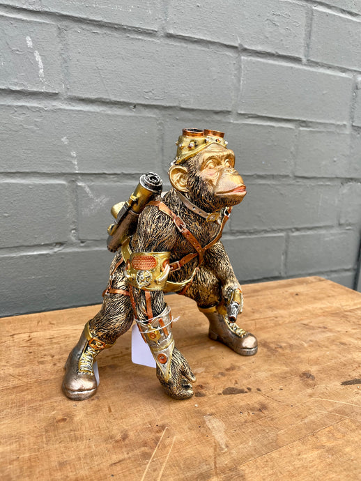 Steampunk Monkey - Gold