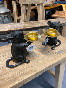 Pair of Black & Gold Mice