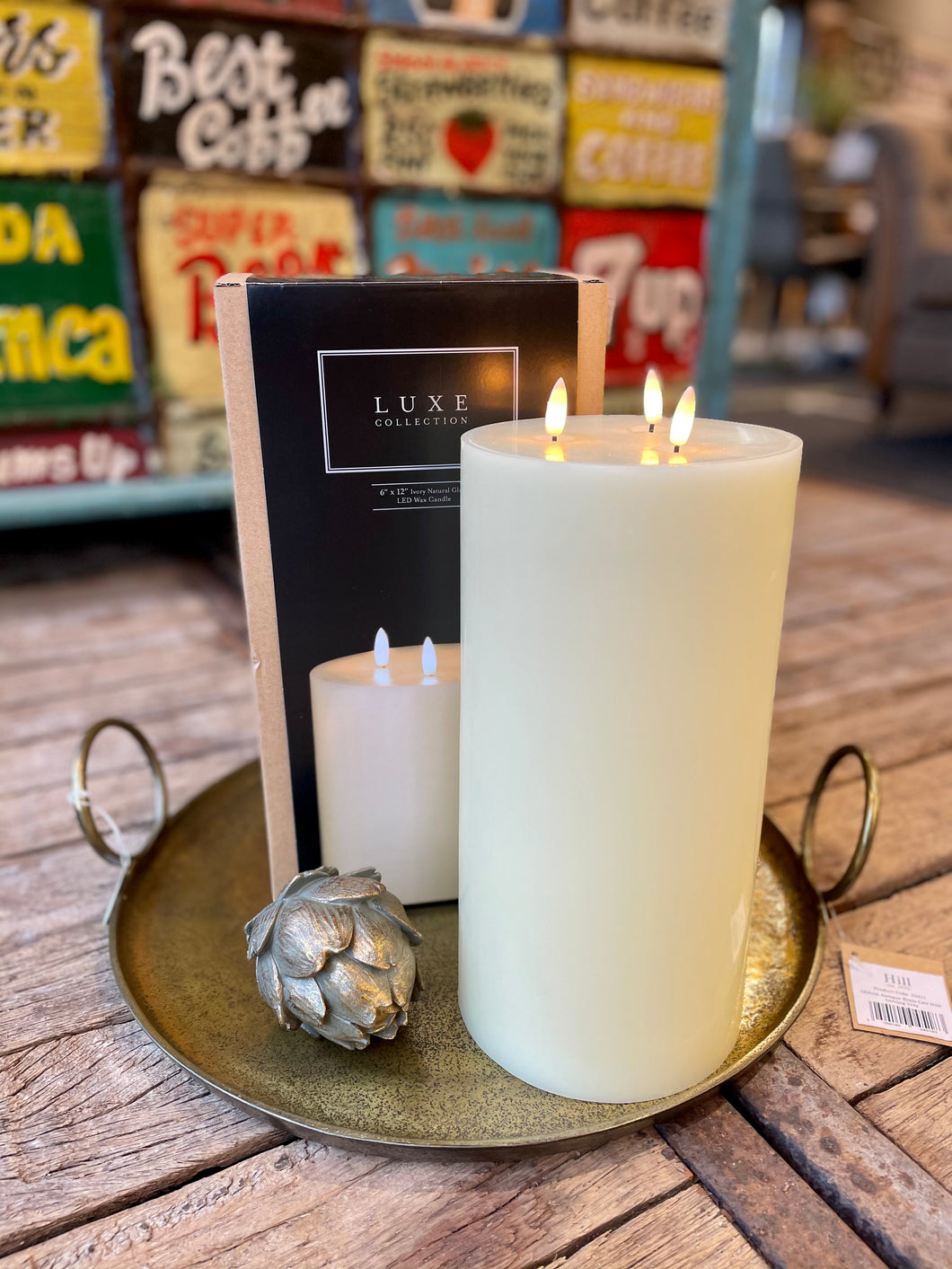 Luxe Candle in Cream 6' x 12'