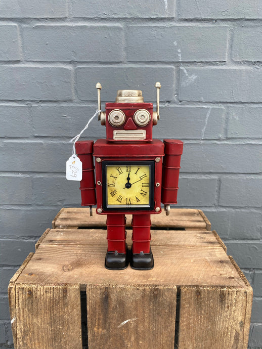 Red Robot Clock ⏰
