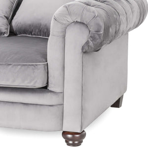 3 Seater Deep Chesterfield in Grey