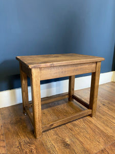 Rustic Pine Side Table/Stool