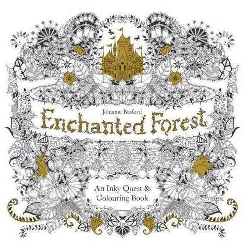 Adult Coloring Books ENCHANTED FOREST Relieve Stress Color Book New Colour 50 Pages