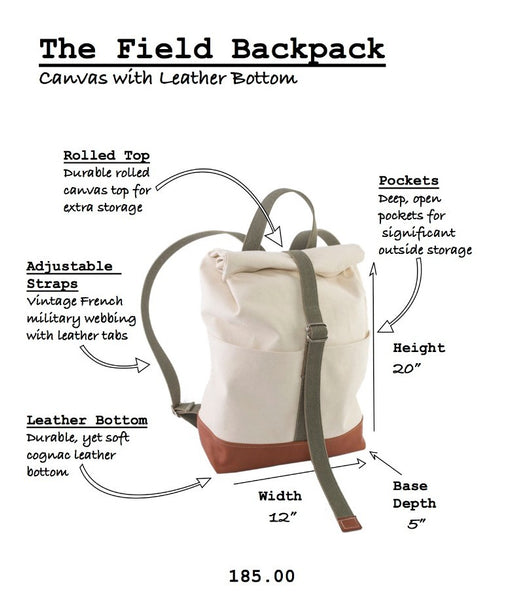 The Field Backpack by Wood.Stone.Bone.