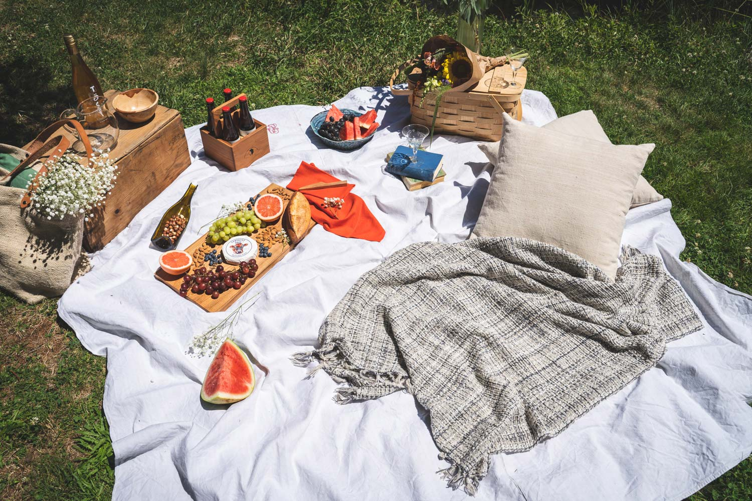 Summer picnic spread