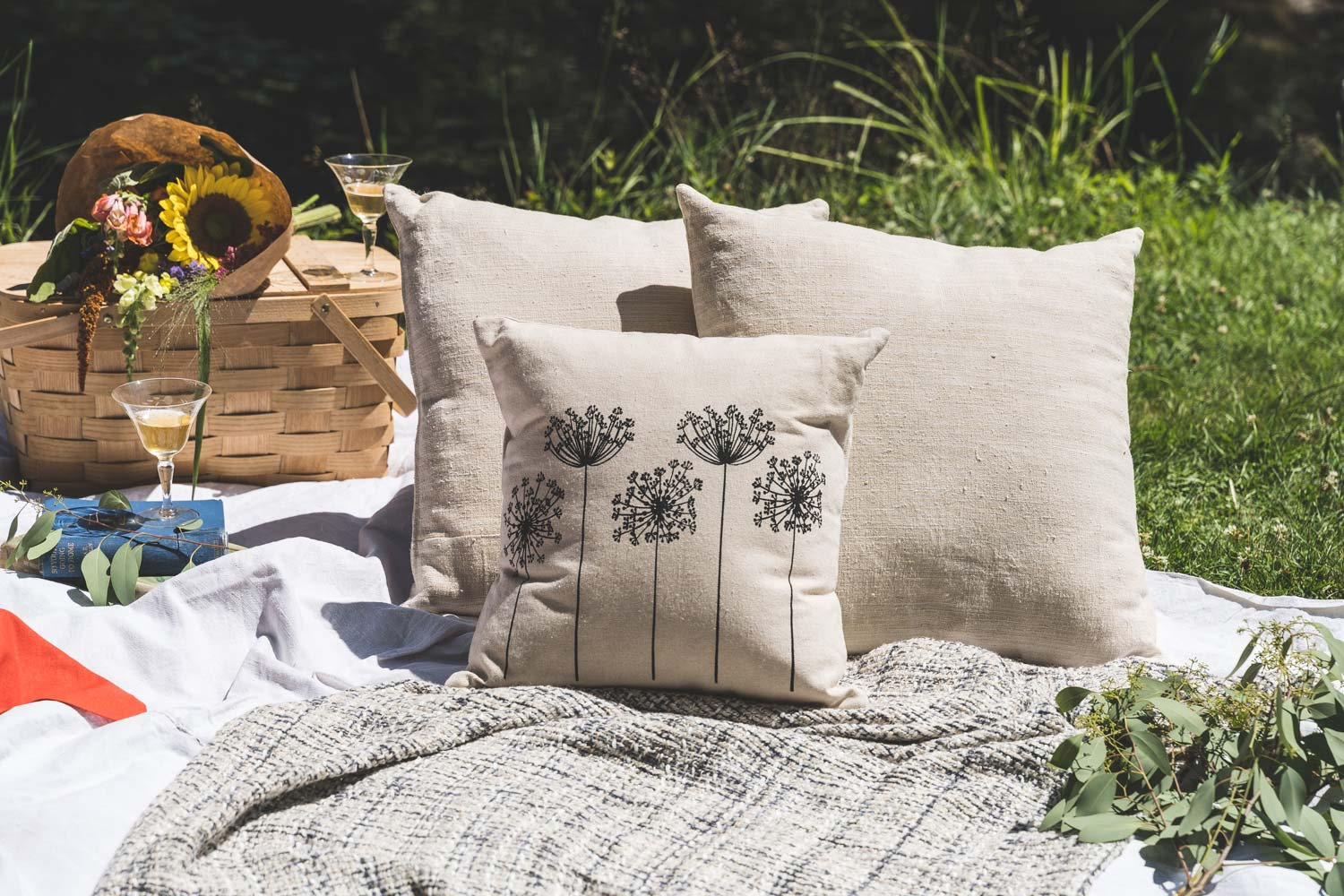 Vintage French Linen Pillows