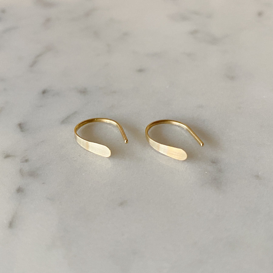 Solid 14k Gold Open Hoop Earrings