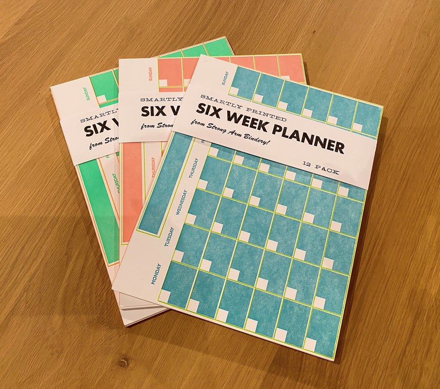 Six Week Planner - Blue