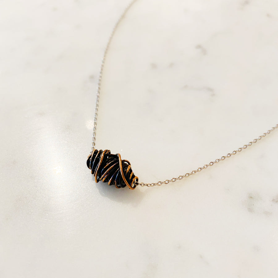 Wrapped Bronze Necklace