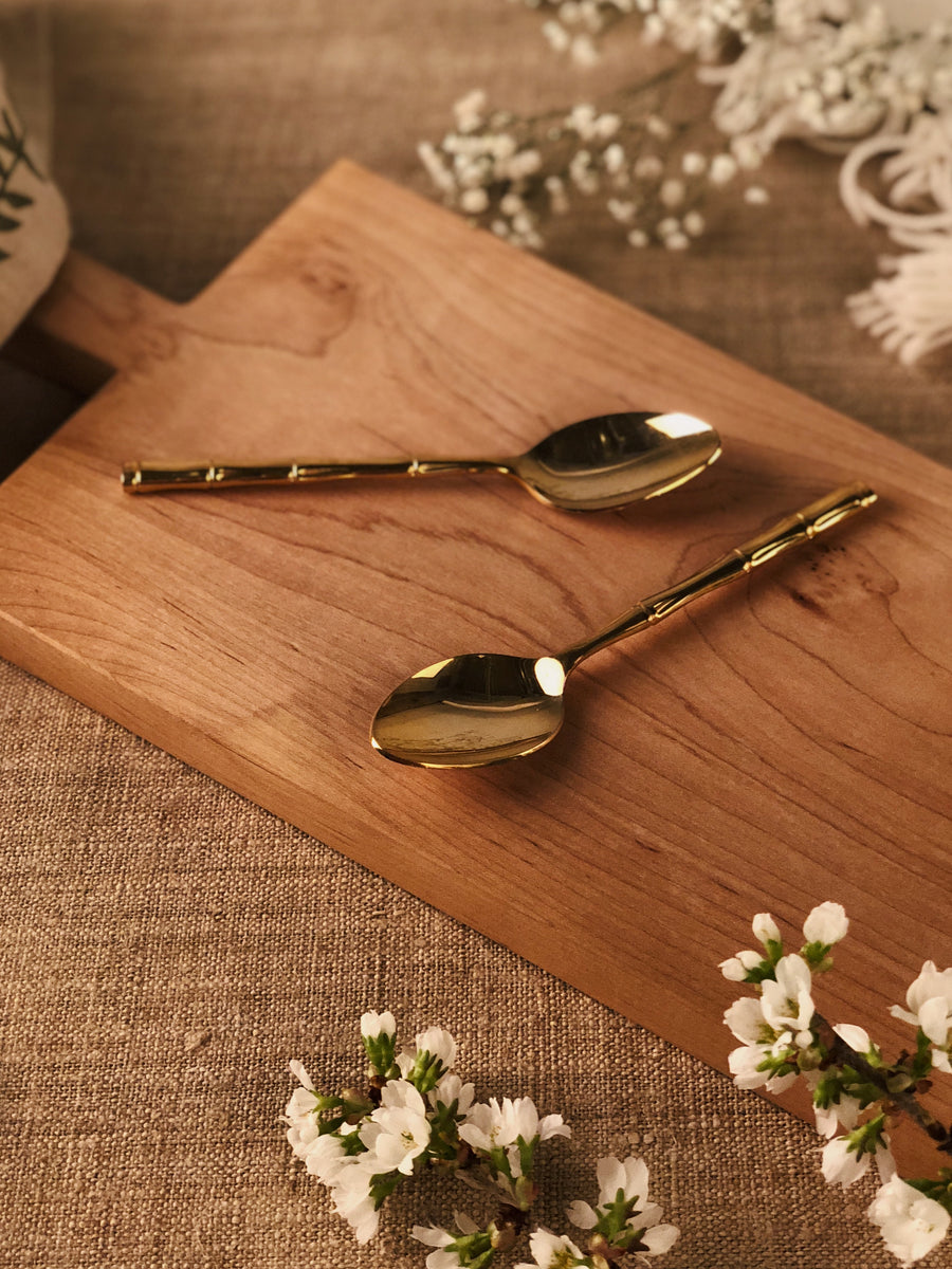 Gold Bamboo Spoons