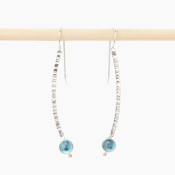 sterling silver and Swiss blue topaz earrings