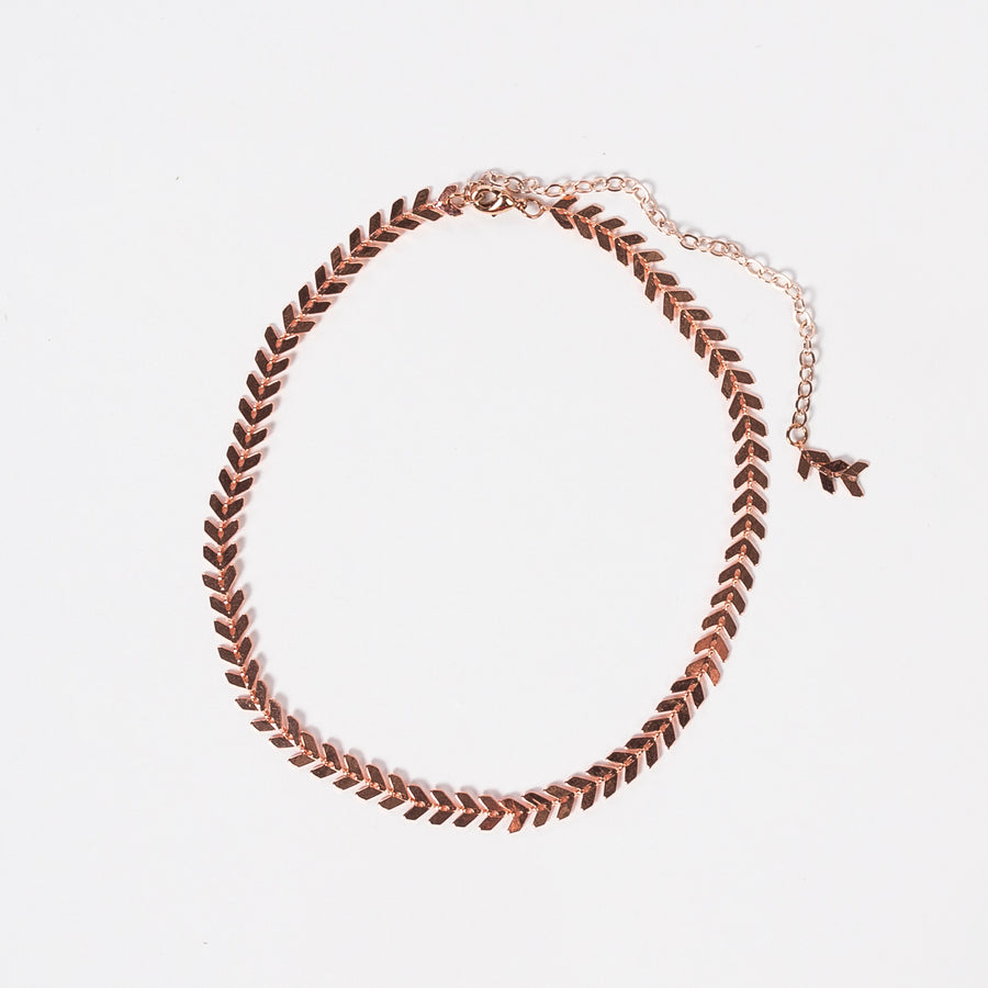 rose gold chevron choker - jewelry - women - modern - handmade - stellarcreature