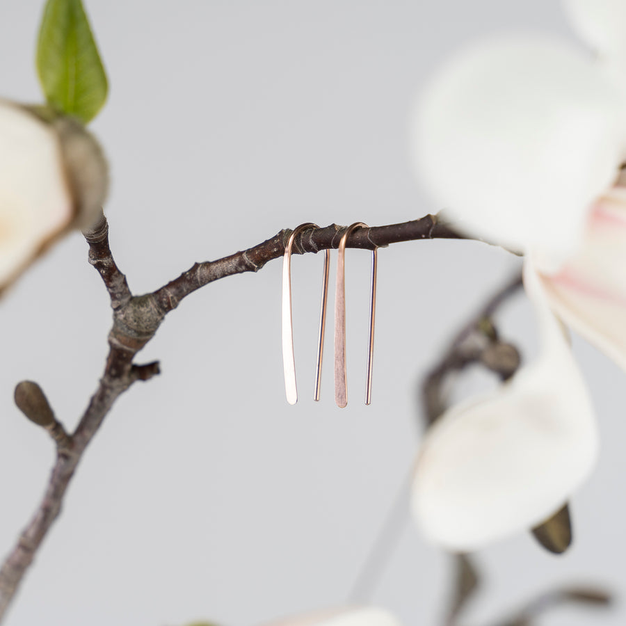 1 inch open hoop earrings - gold, silver or rose gold metal - magnolia branch lifestyle
