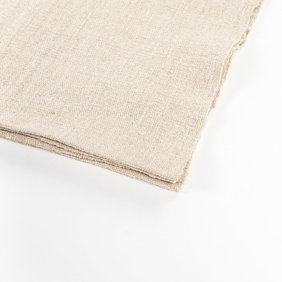 vintage French linen detail shot - placemats - cream linen - washable