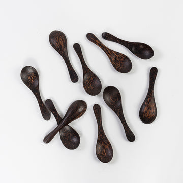 coconut palm sugar spoons - wooden spoons - handcrafted - made in sri lanka