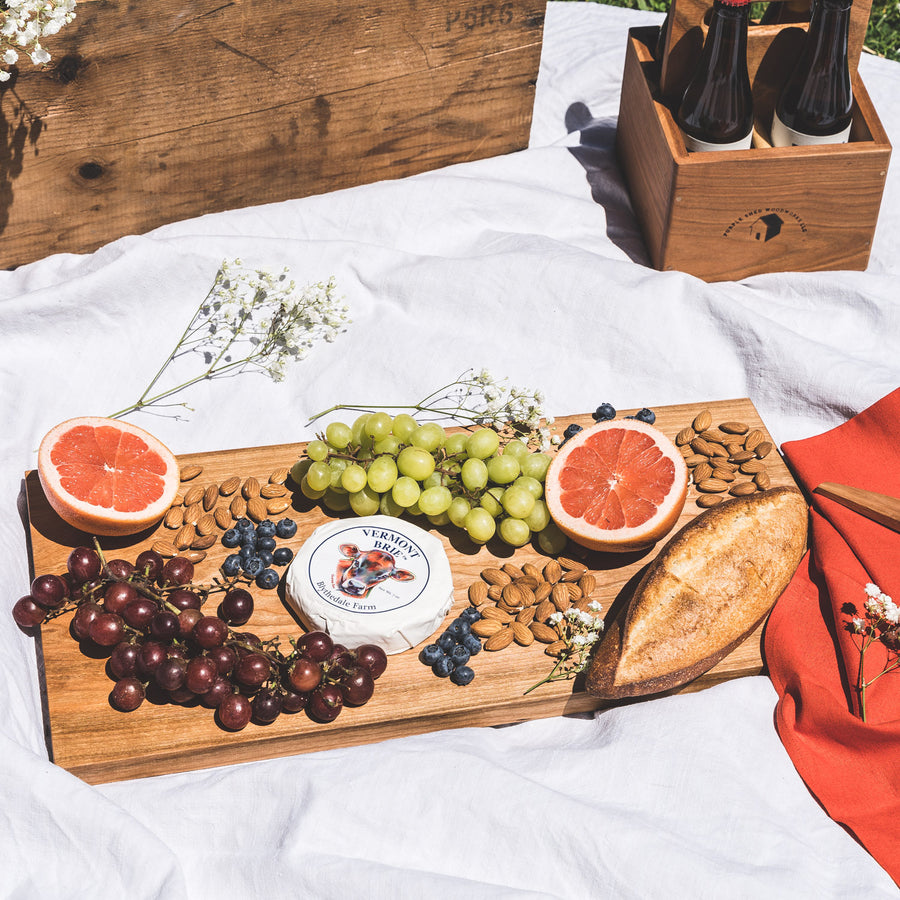 cherrywood smorgasbord - cutting board - charcuterie - serving boards handmade in Maine by Studio 89