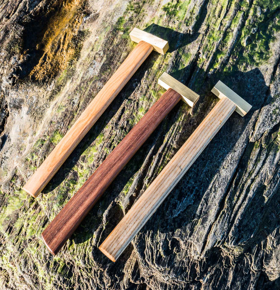 The Artisan Hammers - Ash, Walnut, Cherry & Brass