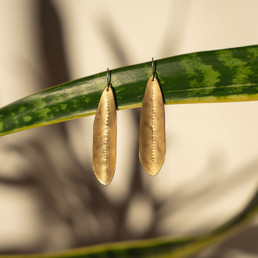 Brass Urchin Earrings