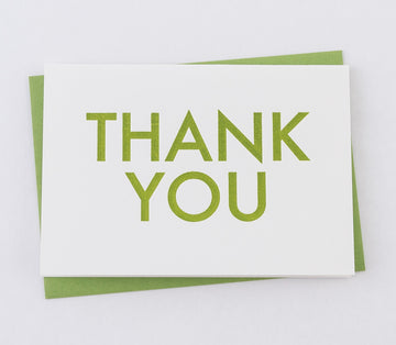Greeting Card - Thank You - Green