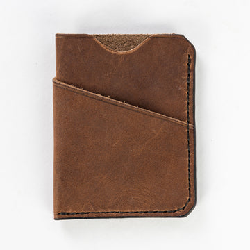 The Anchor Pocket wallet made from Maine leather and high-quality thread - handmade