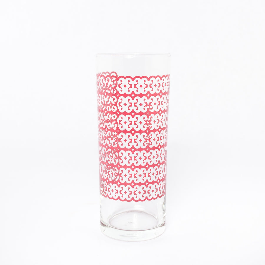 strength glass in red - adinkra - traditional symbology of Ghanaian Heritage