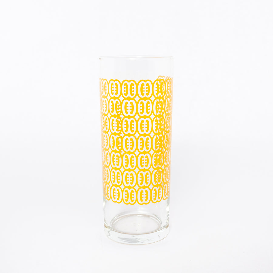 friendship glass in yellow - symbol glassware - home goods