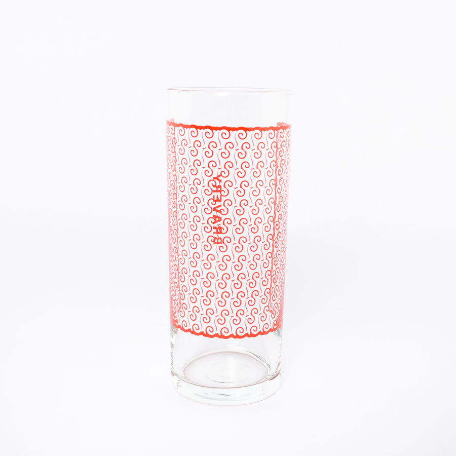bravery glass in dark orange - ghanaian symbols - adinkra