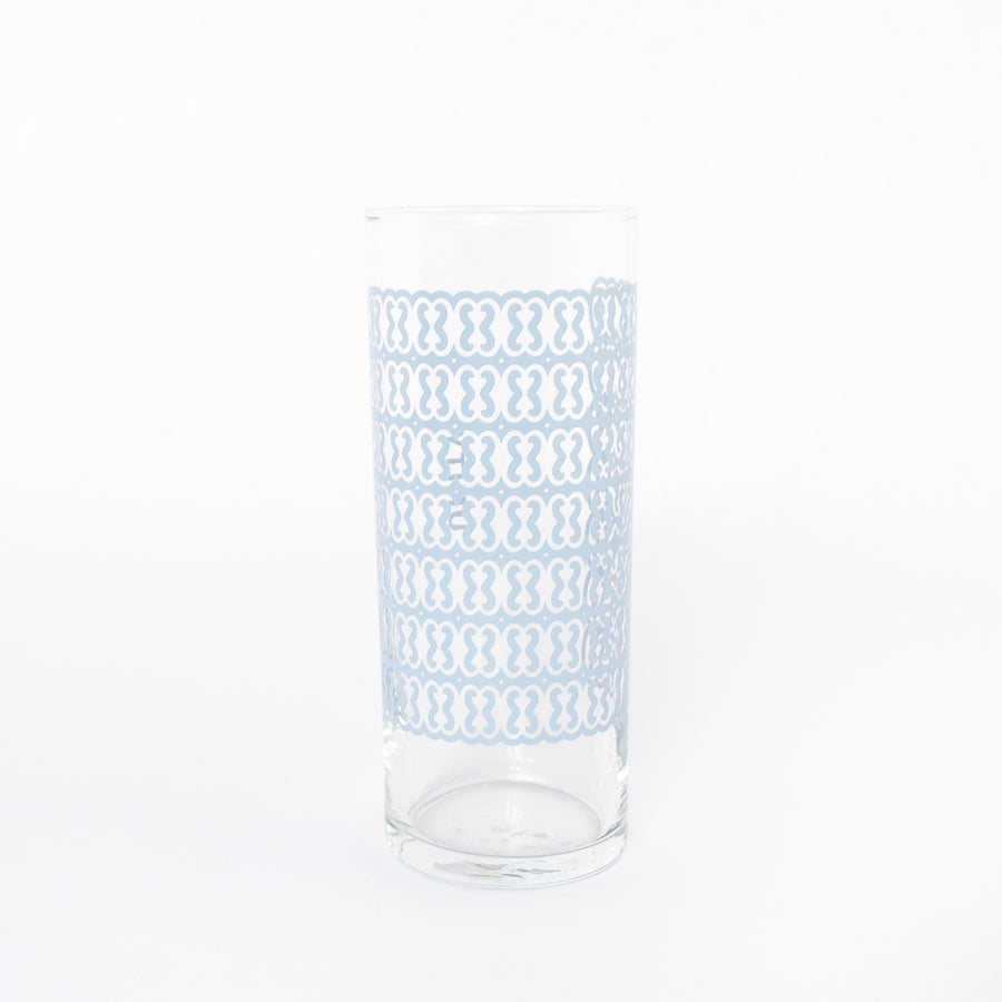 unity glass in light blue - adinkra - traditional ghanaian symbols