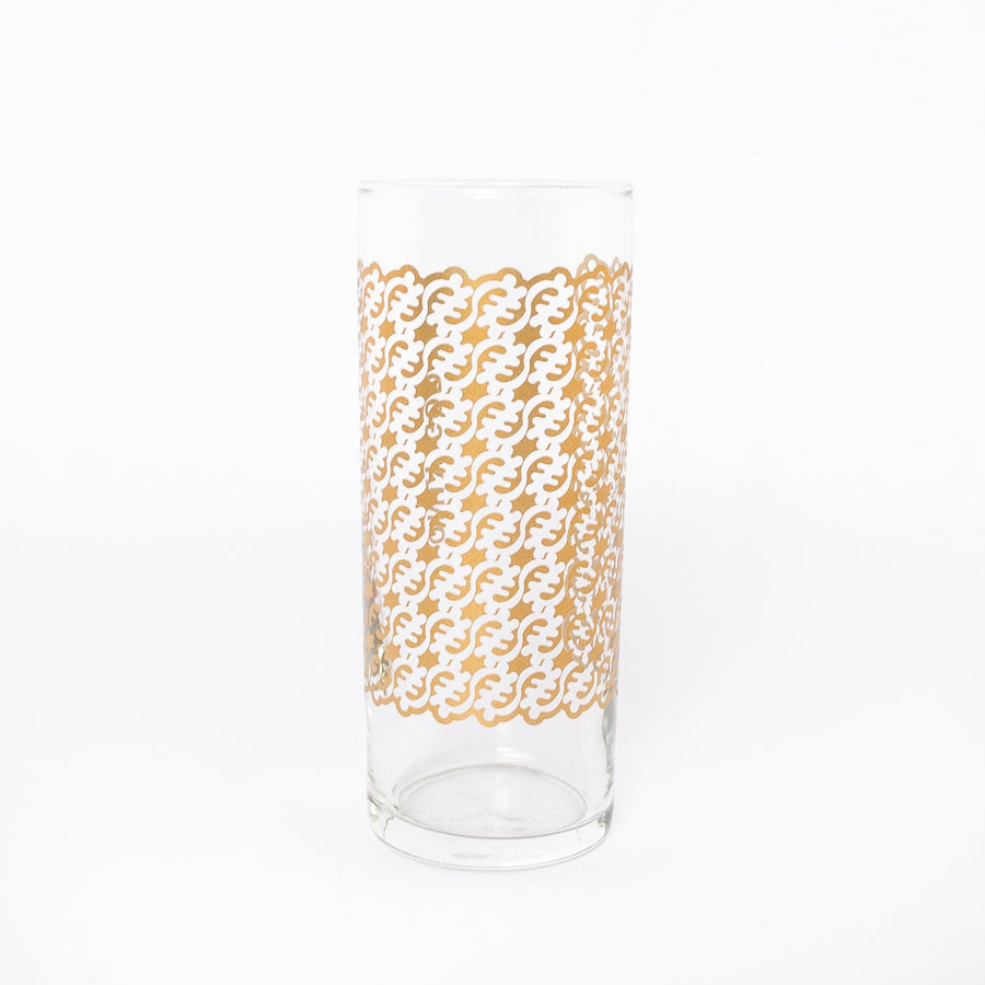 only god glass in gold - symbol glassware - traditional Ghanaian symbols - Adinkra