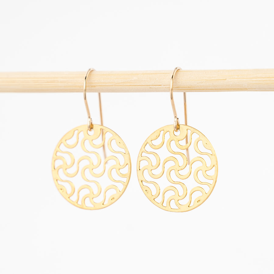 Small Adinkra Symbol Earrings
